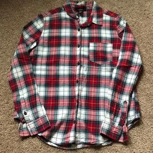 Forever 21 Red Plaid Button Down